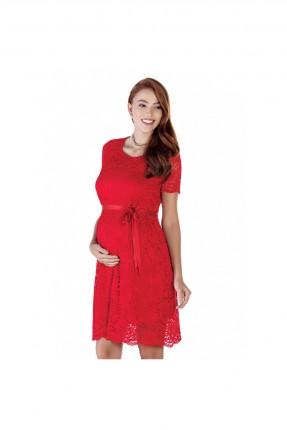 فستان حمل رسمي - احمر