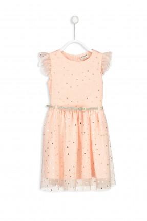 فستان اطفال بناتي مزين بنجوم مع كمر
