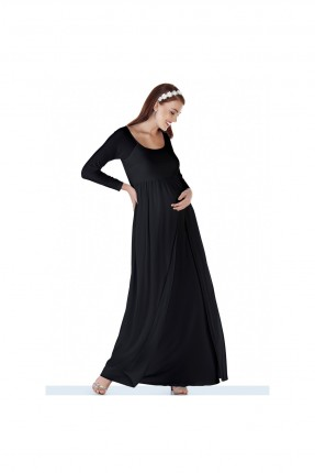 فستان حمل سبور مع شيفون