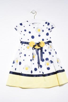 فستان اطفال بناتي منقط مزهر