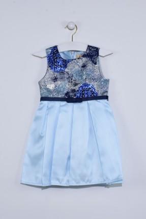 فستان اطفال بناتي رسمي - ازرق
