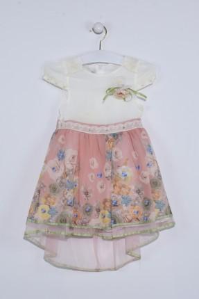 فستان اطفال بناتي مزهر مع تول
