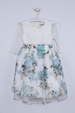 فستان اطفال بناتي مزخرف مع دانتيل
