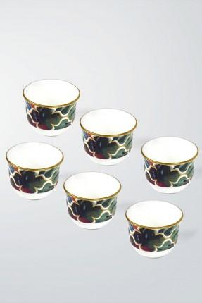 طقم فناجين قهوة عربية 6 اشخاص - ورق شجر