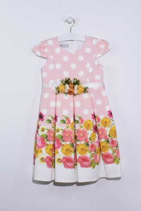 فستان اطفال بناتي مزخرف بورد
