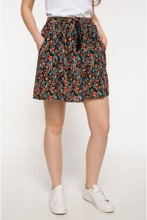 تنورة قصيرة منقوشة ورود سبور