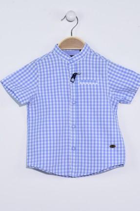 قميص بيبي ولادي كارو - ازرق