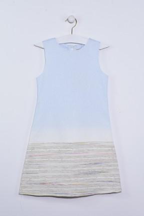 فستان اطفال بناتي حفر - ازرق