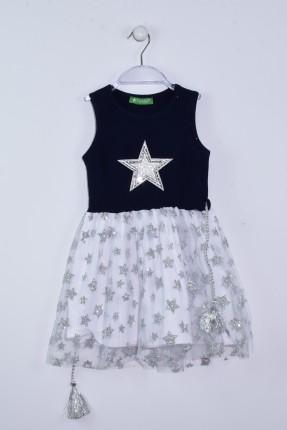 فستان اطفال بناتي مزين بنجوم من ترتر