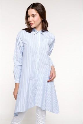قميص نسائي مقلم طويل سبور