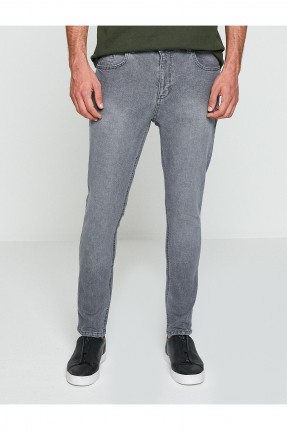 بنطال رجالي جينز سبور - رمادي