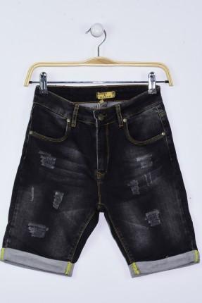شورت اطفال ولادي جينز - ازرق داكن