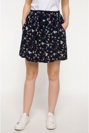 تنورة قصيرة منقوشة ازهار سبور