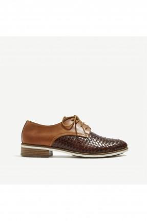 حذاء نسائي جدائل جلد