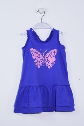 فستان اطفال بناتي - ازرق داكن