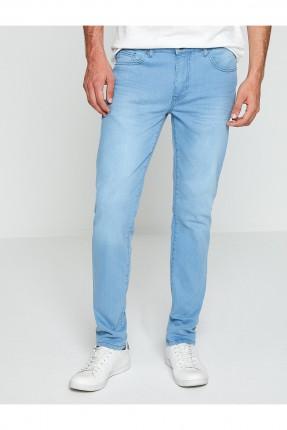 بنطال رجالي جينز سبور سادة - ازرق فاتح