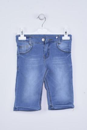 شورت اطفال ولادي جينز - ازرق