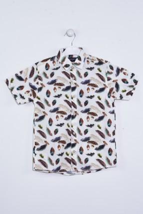 قميص اطفال ولادي مزين بورق شجر