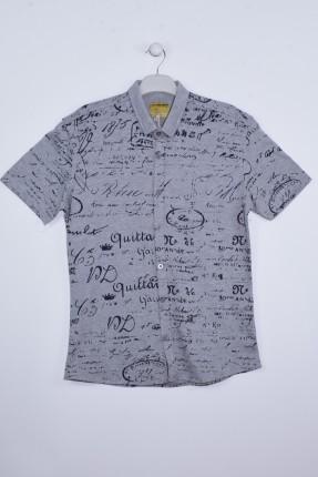 قميص رجالي نص كم مزخرف