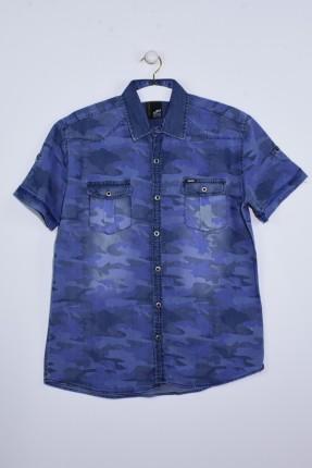 قميص رجالي نص كم مموه