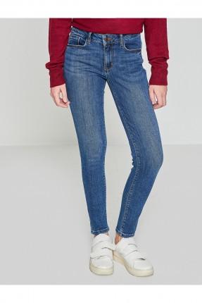 بنطال نسائي جينز سادة سبور
