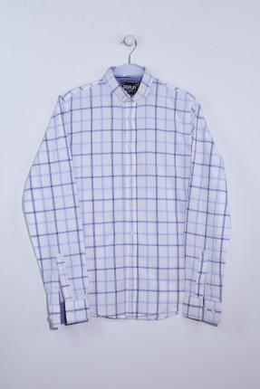 قميص رجالي سبور مخطط كم طويل