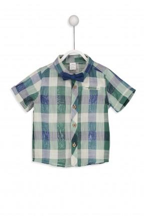 قميص بيبي ولادي كارو مع بيبيونة