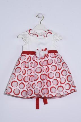 فستان اطفال بناتي مزخرف _ احمر