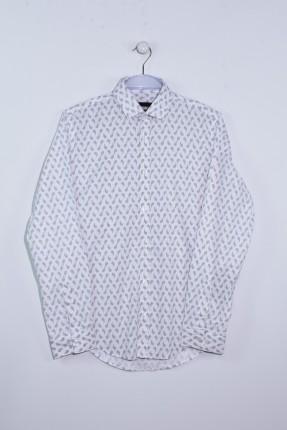قميص رجالي سبور كم طويل مزخرف