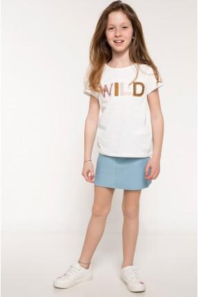 تنورة جينز اطفال بناتي - ازرق