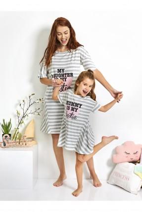 فستان نوم اطفال بناتي مخطط