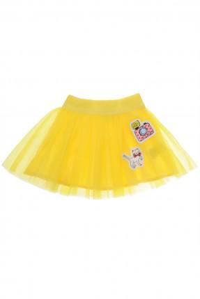 تنورة اطفال بناتية تول - اصفر