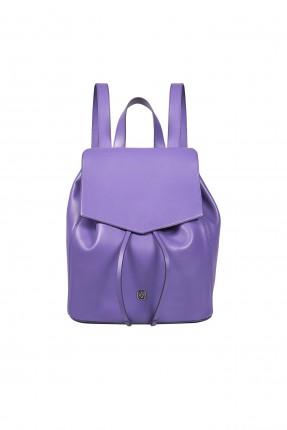 حقيبة ظهر جلد نسائية سبور شيك - بنفسجي