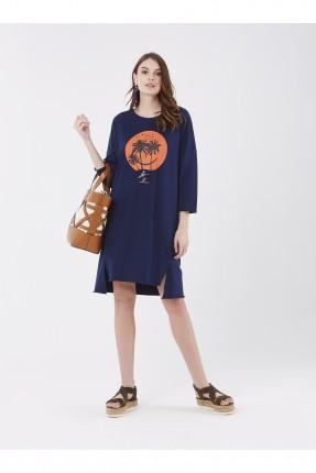 فستان سبور مع طبعة