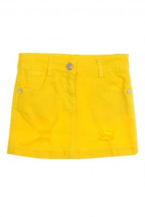 تنورة اطفال بناتي ممزقة - اصفر