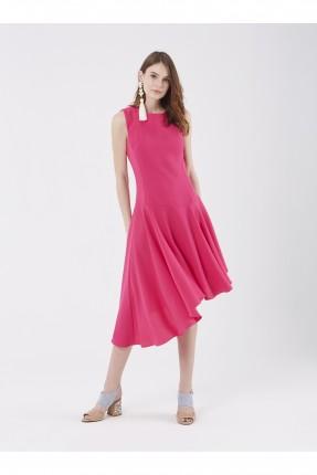 فستان رسمي حفر - فوشيا