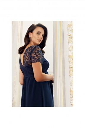 فستان حمل رسمي دانتيل - كحلي