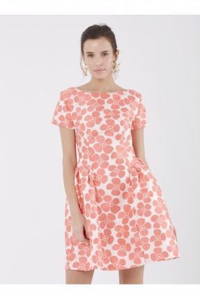 فستان سبور قصير مع نقشات