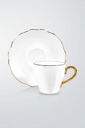 طقم فناجين قهوة 6 اشخاص - ابيض