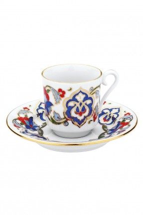 طقم فناجين قهوة 6 قطع (زخرفة يدوية)
