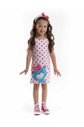 فستان اطفال بناتي منقط مع بوند