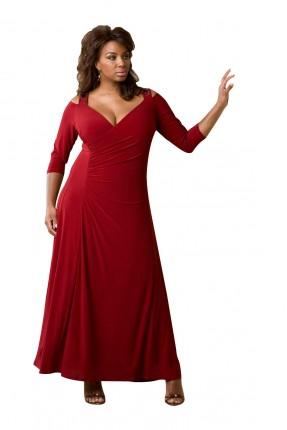 فستان رسمي طويل _ خمري