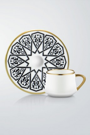 طقم قهوة 6 اشخاص - مزخرف
