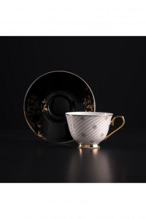 طقم فنجان قهوة / شخصين / - مزخرف ذهبي