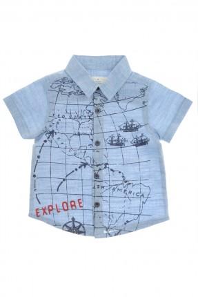 قميص بيبي ولادي مع رسمة - ازرق