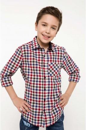 قميص اطفال ولادي كارو مع جيب