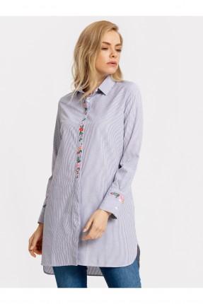 قميص نسائي طويل مطرز
