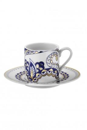 طقم فنجان قهوة مزخرف / 6 اشخاص /