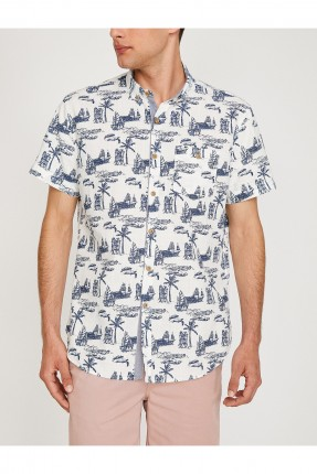 قميص رجالي منقوش سفن سبور