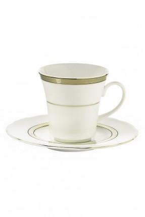 طقم فنجان قهوة بزخرفة ذهبي / 6 اشخاص /